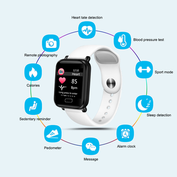 2019 New Women Smart watches Waterproof Sports For Iphone phone Smartwatch Heart Rate Monitor Blood Pressure Functions For kid 1