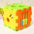 Новые Красочные Детские Игрушки Блока Пластиковые детские Развивающие Игрушки Коробка Форма Геометрия Совпадающих Блоков Для Детей