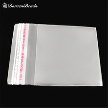 Free Shipping! 200 PCs Clear Self Adhesive Seal Plastic Bags 6x4cm (B04010)