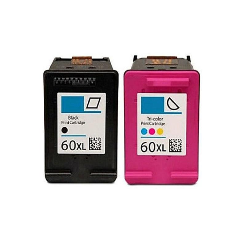 Einkshop 2Pcs For HP 60 xl Ink Cartridge for HP Deskjet F2480 F2420 F4480 F4580 D2660