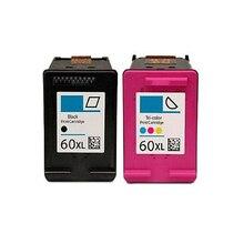 Einkshop 2Pcs For HP 60 xl Ink Cartridge for HP Deskjet F2480 F2420 F4480 F4580 D2660 F4280 PhotoSmart C4680 printer for hp60