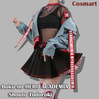 Anime Boku no MY HERO ACADEMIA figure Uraraka Ochaco Cosplay Costume Magazine Fashion Daily Wear Full set For Women NEW 2018 fre