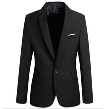 New Arrival Luxury Men Blazer New Spring Fashion Brand High Quality Cotton Slim Fit Men Suit Terno Masculino Thin Blazer Men(China)