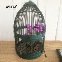 Creative Bird Cage Garden decoration Ancient home balcony villa garden pendants wrought iron creative wall hanging bird cage