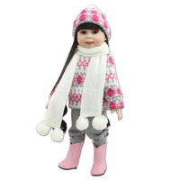 NPK COLLECTION 18 Winter Clothes Girl Handmade Soft Silicone Vinyl Reborn Dolls Realistic Toddler Doll Toys