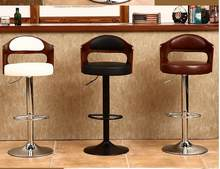 Bar chair solid wood. Retro - back lift - rotating stool. Front desk cashier. Bar chair.012(China)