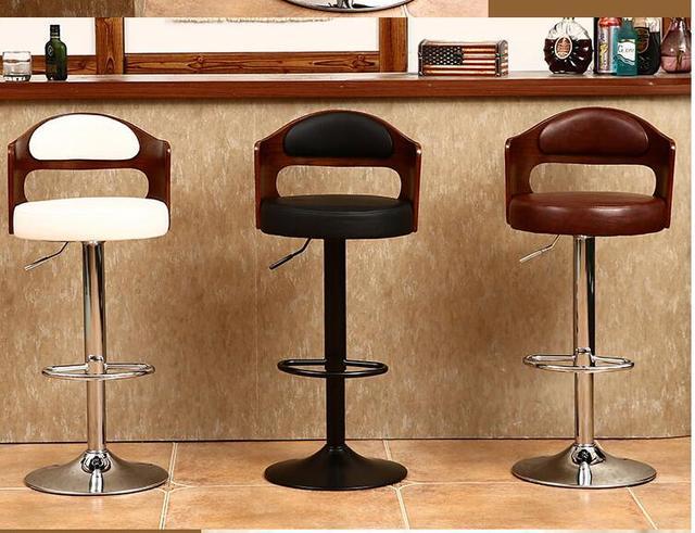 Sedia bar in legno massello retro torna lift sgabello girevole