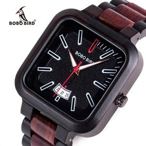 Image 2 - Relogio masculino BOBO BIRD นาฬิกาผู้ชายนาฬิกาไม้ QUARTZ Mens TOP แบรนด์หรูวันที่นาฬิกาข้อมือยอมรับโลโก้ Drop Shipping