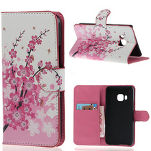Bee Pink ameixa flor virar carteira de couro Stand Case capa bolsa para HTC One M9 telefone 2015 Hotsale