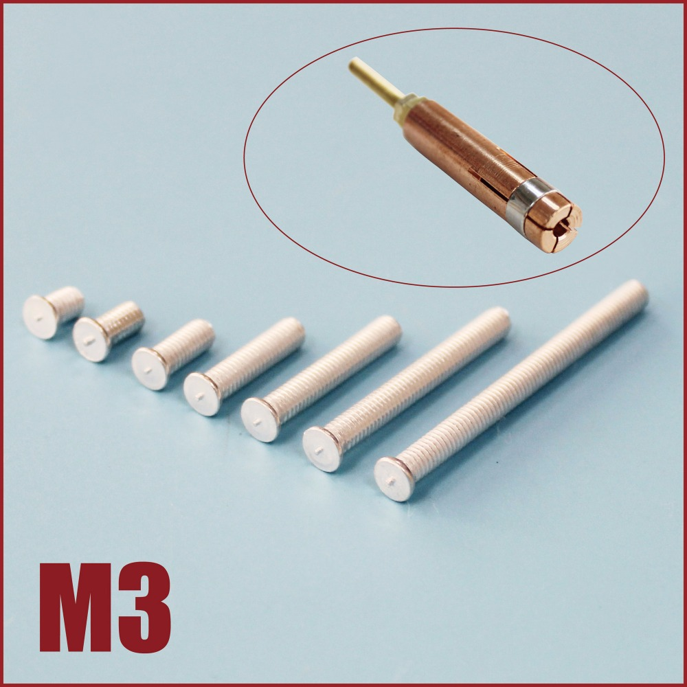 m3 aluminium screw capacitor screw aluminum welding metric stud bolts cd weld studs flanged fasteners stud welding 320pc capacitor discharge welding studs ws 320
