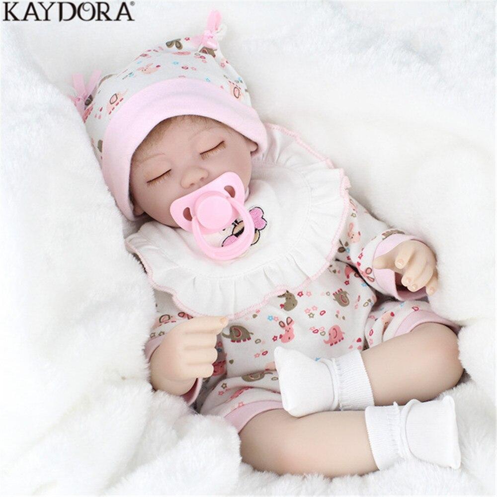 KAYDORA Reborn bébé poupée jouets pour enfants cadeau réaliste sommeil corps Silicone enfants Playmate pour filles Mini poupées