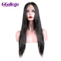 Колледж 360 кружева фронтальной парик с ребенком волос Remy прямые волосы Glueless бразильский человеческих волос 360 Кружева Парики Для женщин 12 24
