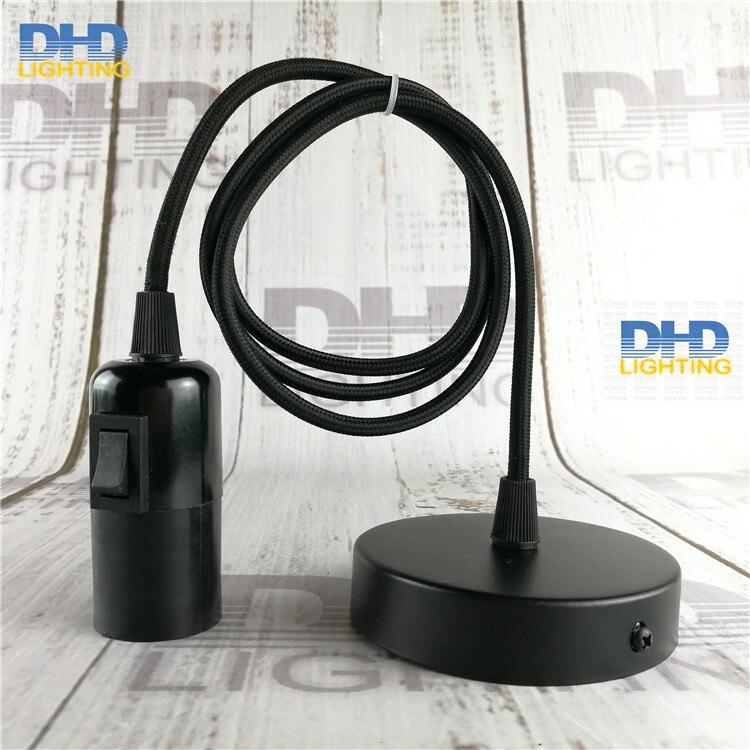 Sample Order Of E27 Diy Lamp Fixture Black Knob Switch