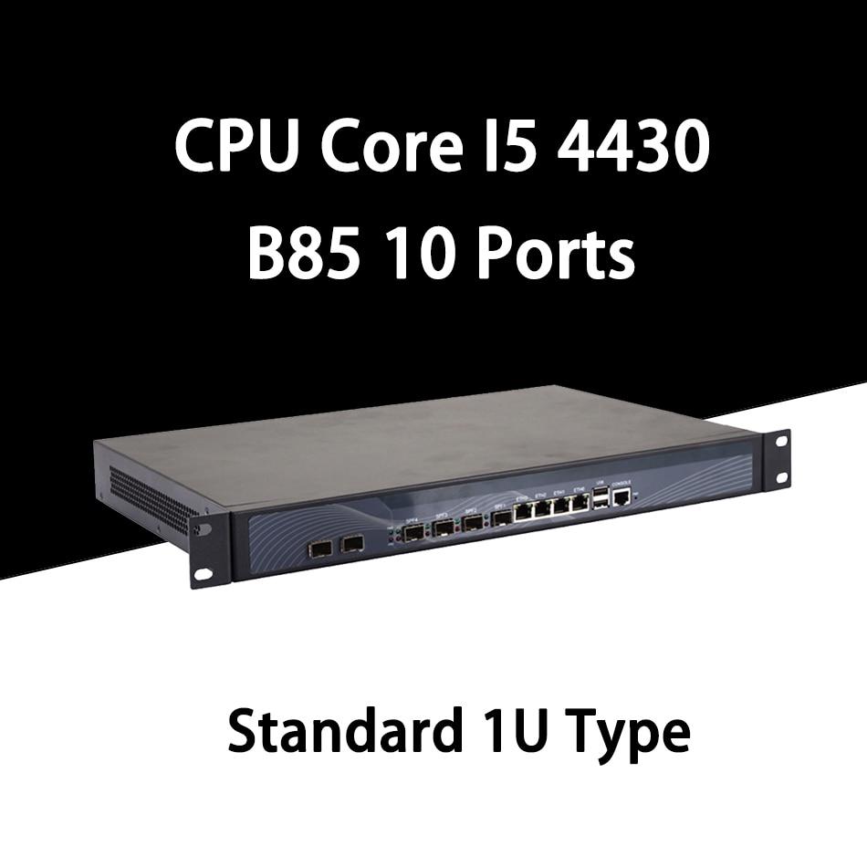 Firewall Mikrotik Pfsense VPN Network Security Appliance Router PC Intel Intel Core I5 4430,[HUNSN SA20R],(4LAN/2USB/1COM/1VGA)