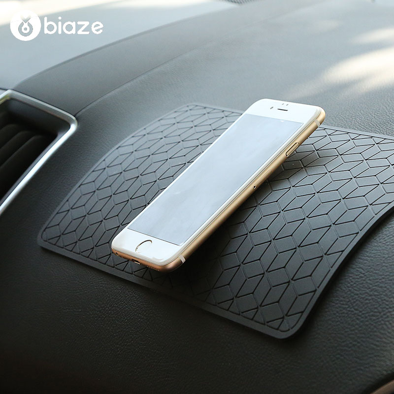 Biaze Mobile Phone Holder Silicone GPS Navigation Car Phone Holder Non-slip Mat PhoneHolder Decor Pad For All Android IOS Device