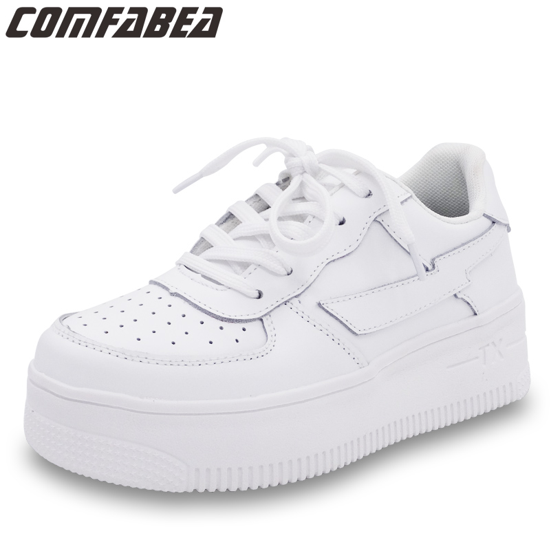 Women Sneakers Shoes Spring Autumn 2018 New Arrival White Casual Fashion Creepers Ladies Flats Shoes Harajuku Comfortable Shoe цена 2017