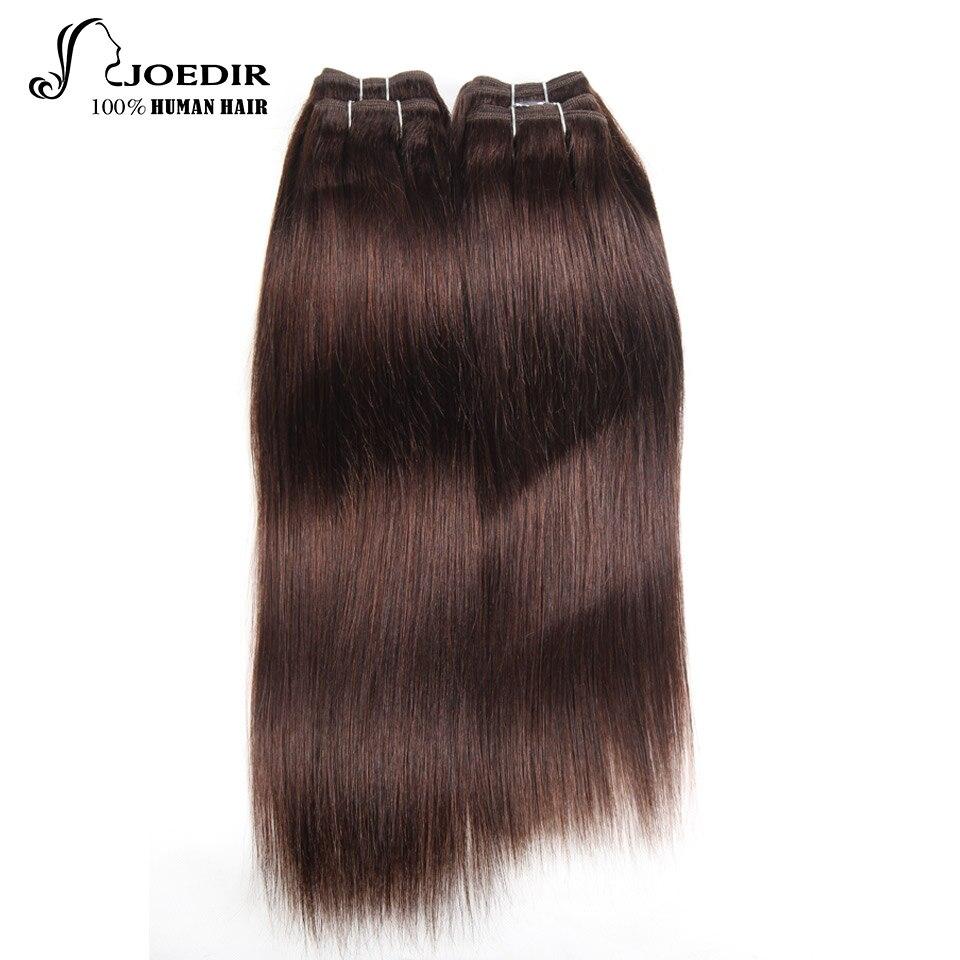 Joedir Hair Pre-Colored Brazilian Hair Weave Bundles 190G Yaki Straight Human Hair 4 Bundles Deal 1 Pack #2 #4 99j Free Shipping