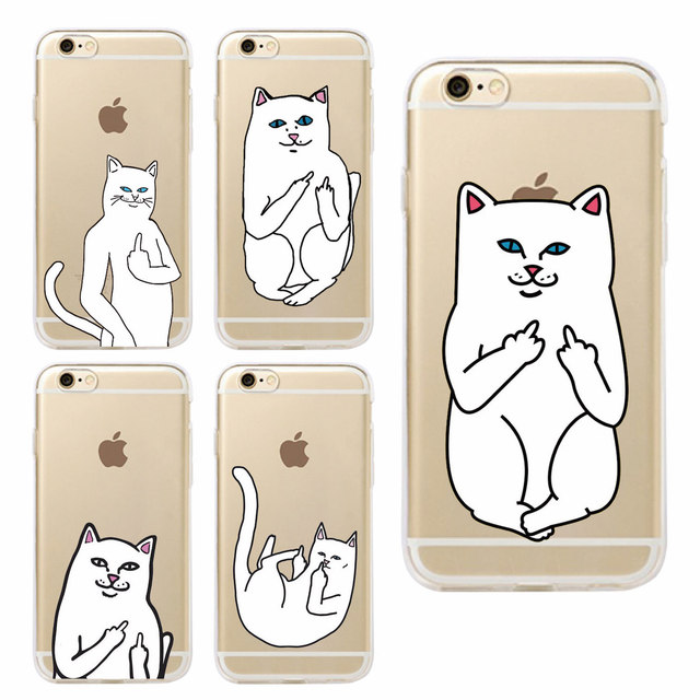 Finger Cat Case For Samsung & iPhone