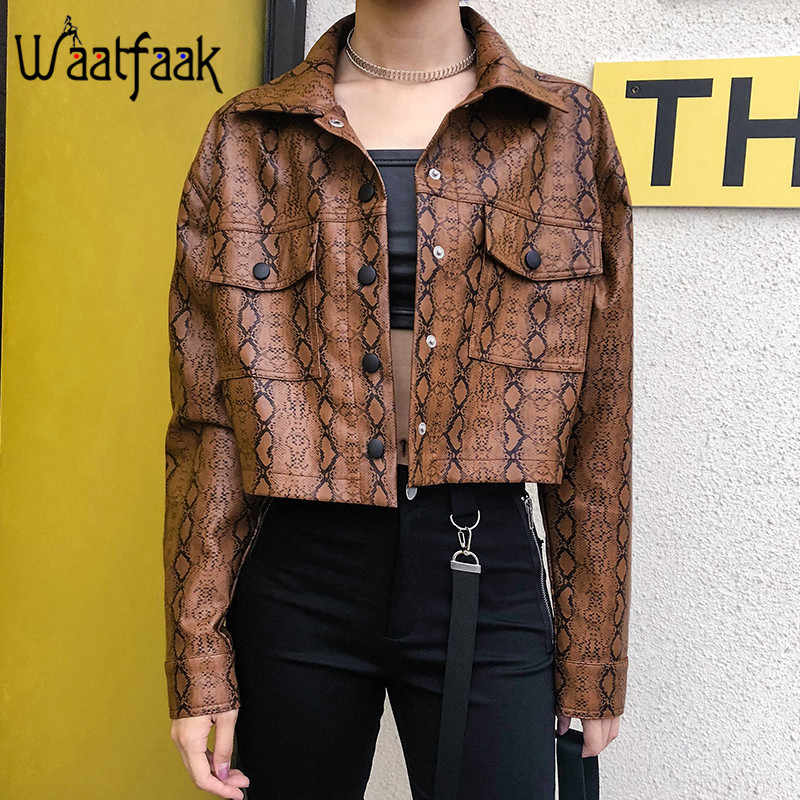 3b12a12f4 Detail Feedback Questions about Waatfaak Snake Print Faux Leather ...