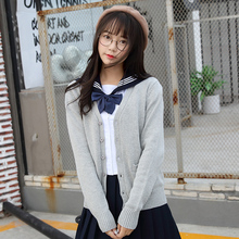 japanese JK cardigans long sleeve V-Neck sweater for beautiful cute young girls women lolita cosplay clothes winter costume