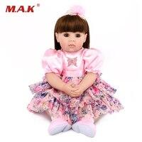 Принцесса кукла 50 см мягкие силиконовые возрождается куклы младенца 22 дюйм(ов) реалистичные куклы Baby Alive для сбора подарки игрушки
