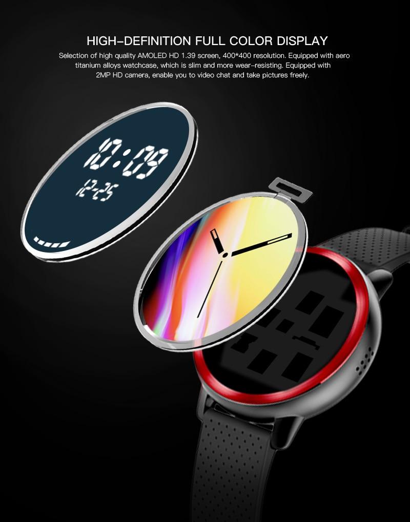 LEMFO LEM8 4G Smart Watch Android 7.1.1 GPS Smartwatch Men 2GB 16GB 580Mah Battery 1.39 Inch AMOLED Screen Sport Watch 7