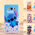 Fashion Cute cartoon Anime Stitch kitty soft tpu gel silicon cover case for Samsung Galaxy A7 A700 A7000 case with Stylus pen