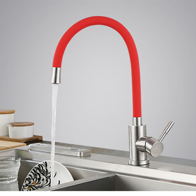 stainless kitchen faucet small buffet colored flexible tap steel taps thermostatic faucets ceramic water mixer for
