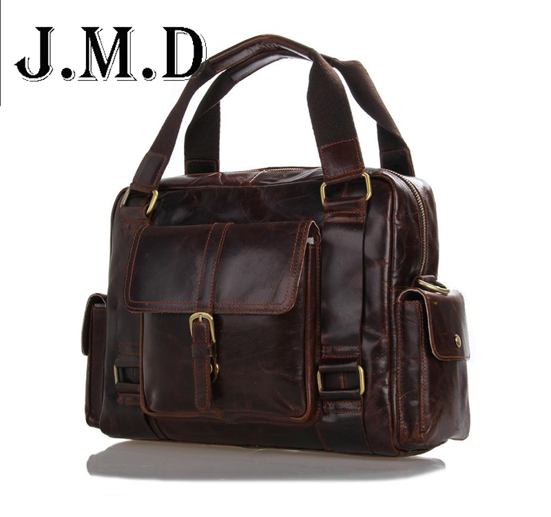 Genuine leather tote bags New head layer Cowhide leather casual shoulder bag Vintage handbags men messenger bags travel bag europe and the new spring and summer leather handbag bag simple cross head layer cowhide temperament mini bag tote bag