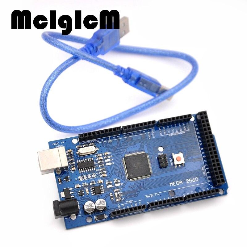 MCIGICM MEGA 2560 R3!!! ATmega2560 AVR USB conseil + câble USB libre (ATMEGA2560/CH340) pour arduino mega 2560