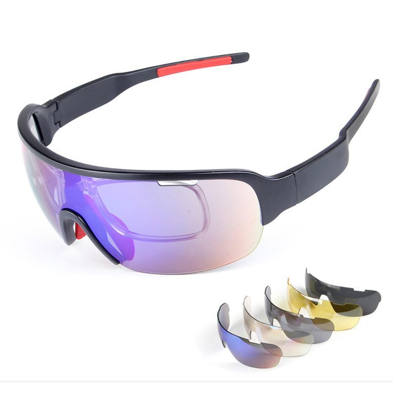 5PC Lens TR90 Mens Area Polarized Bicycle Sun Glasses 30g Sports Goggles Cycling bike Sunglasses Riding Fishing Eyewear ciclismo