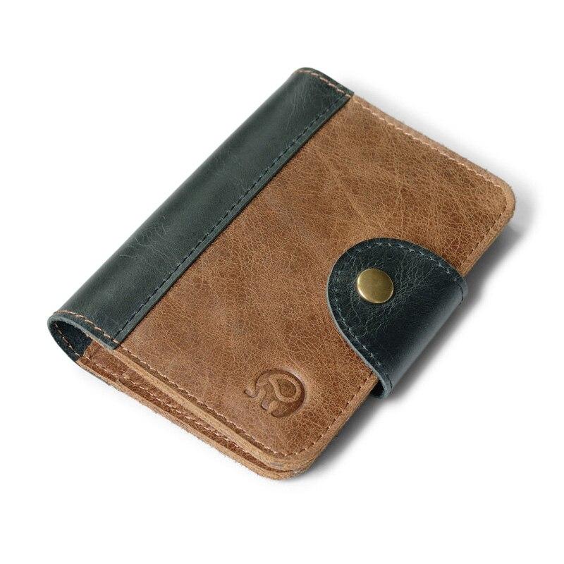 Retro Genuine Leather Credit Card Holder Cardholder Wallet For Credit Cards