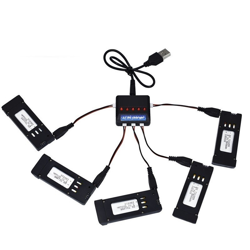 Intelligent Charger and <font><b>3.7V</b></font> <font><b>500mAH</b></font> <font><b>Lipo</b></font> <font><b>Battery</b></font> for Eachine E58 JY019 S168 For RC Quadcopter Spare Parts <font><b>3.7v</b></font> RC <font><b>Drone</b></font> <font><b>Battery</b></font> image
