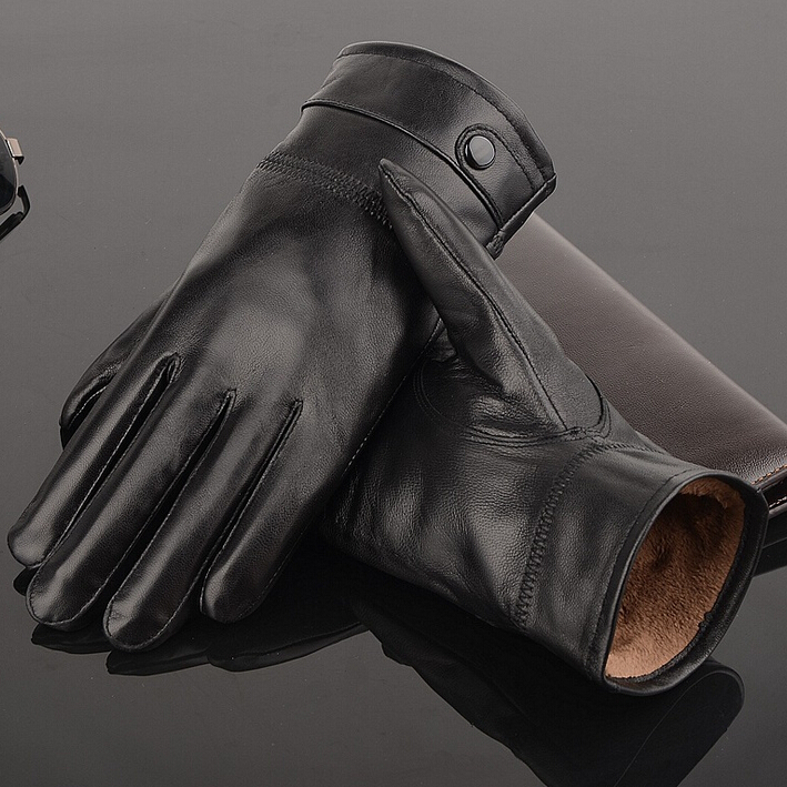 NEW Leather winter guantes warm sheepskin Glovess