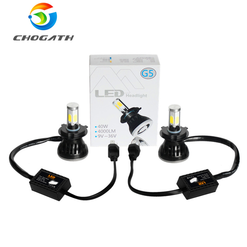 chogath tm car led headlight bulbs 6000k 40w cob 5202 880. Black Bedroom Furniture Sets. Home Design Ideas