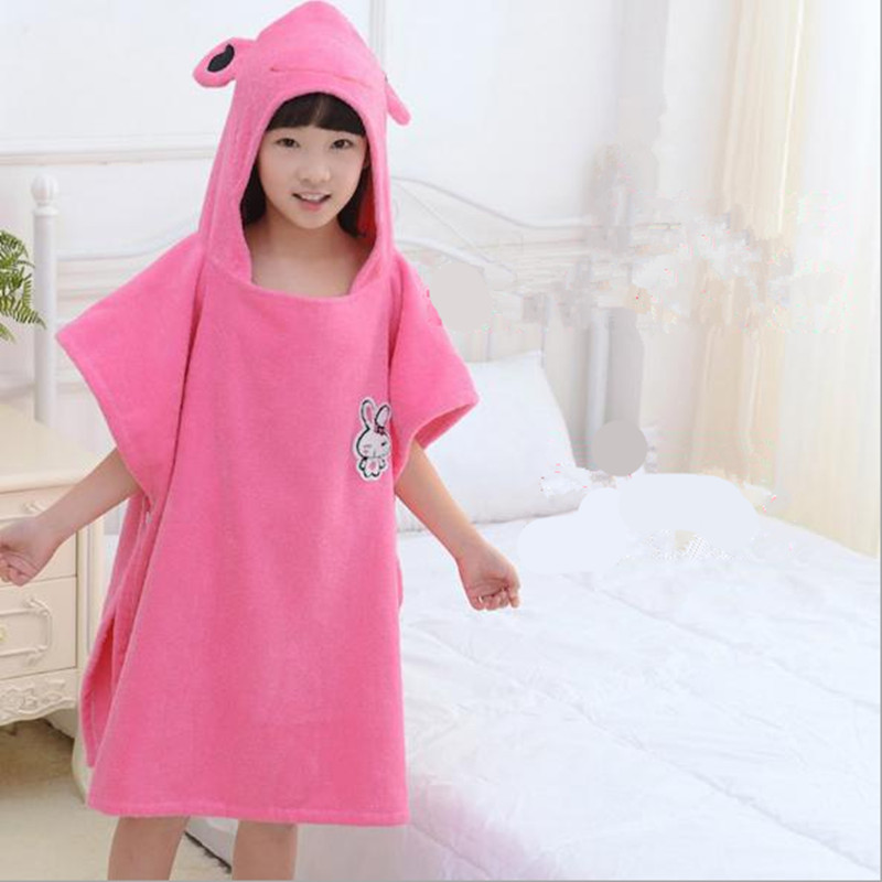 Beautiful Cotton Kids Hooded Towel Girls Cute Bathing Supplies Children Handdoek Cotton Beach Towel High Quality From The Factory Baby Care