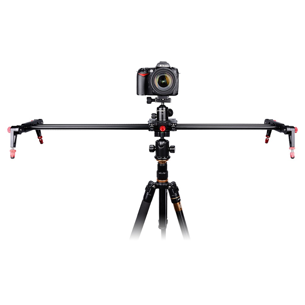 YELANGU 24/60cm Ball Bearing Camera Slider Rail System for DSLR Phone and Video Cameras with Salable Carrying Bag spacerail diy physics space ball rollercoaster with powered elevator 26000mm rail