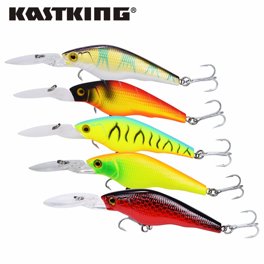 KastKing 2017 New Lot 5 pcs Fishing Lure Deep Swim Hard Bait Fish 9CM 7.4G Artificial Baits Minnow Fishing Wobbler Japan Pesca 8pcs lot proberos fishing lure crankbait hard bait fish 10cm 9 36g artificial baits laser minnow fishing wobbler
