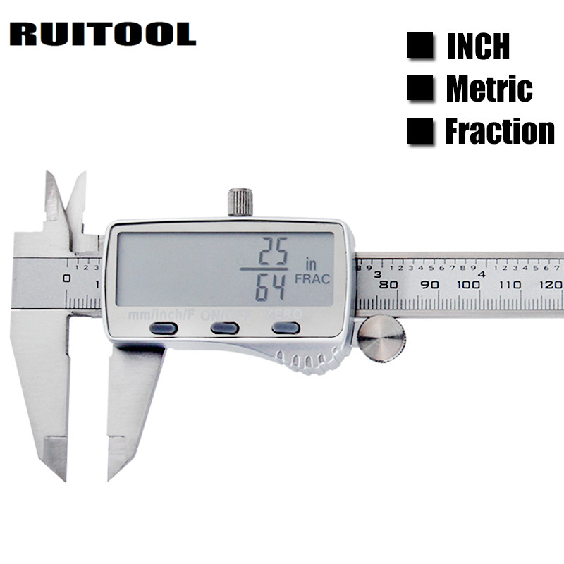 Digital Caliper Metric/Inch/Fraction 0-150mm Electronic Vernier Calipers Ruler Stainless Steel Micrometer Measuring Instruments цены