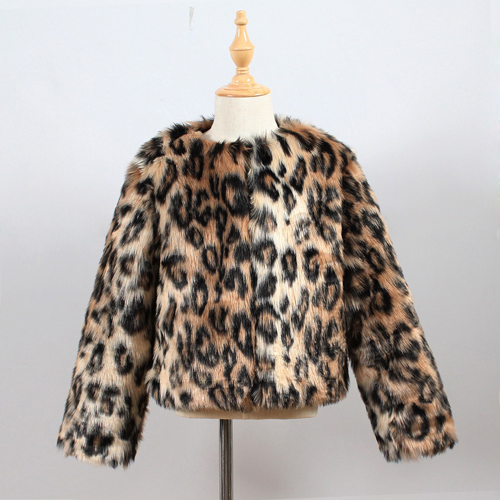 811547985193 Detail Feedback Questions about ARLONEET Kids Girls Leopard print Stylish  Fur Jackets Faux Fur Coat Waterfall Jacket Thick Warm Outwear Clothes L1018  on ...
