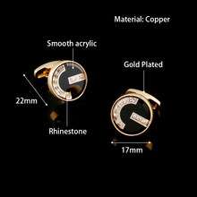 2018 Luxury Gold Cufflinks for mens jewellery Cuff Buttons High Quality Gemelos Brand link Men Jewelry Wedding Gift