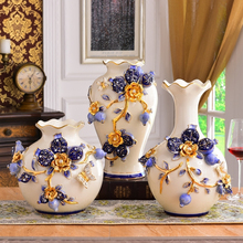цена на Europe Porcelain vase Creative big Ceramic vases arts and crafts  tabletop flower vase centerpieces for weddings home decoration