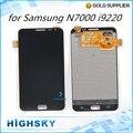 1 peça o envio gratuito de acessórios de peças de reposição de tela para samsung galaxy n7000 i9220 display lcd + de toque digitador + ferramentas