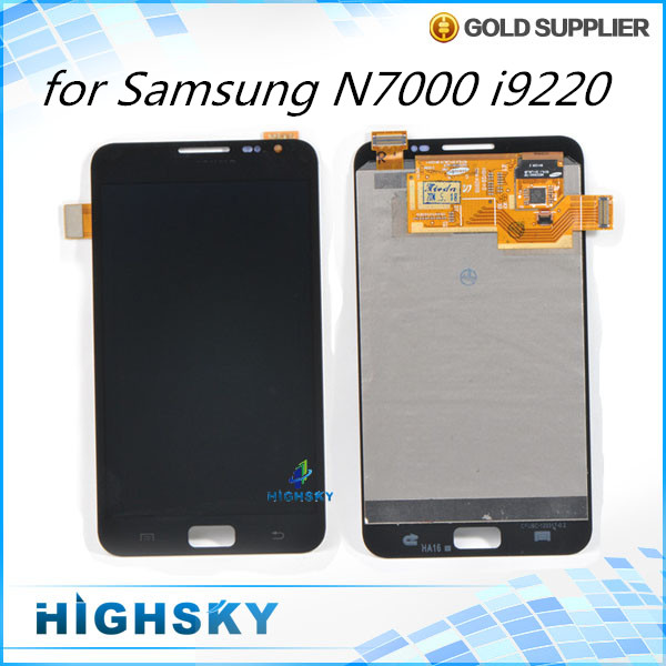 1 piece free shipping replacement parts accessories screen for samsung galaxy N7000 i9220 lcd display +touch digitizer + tools