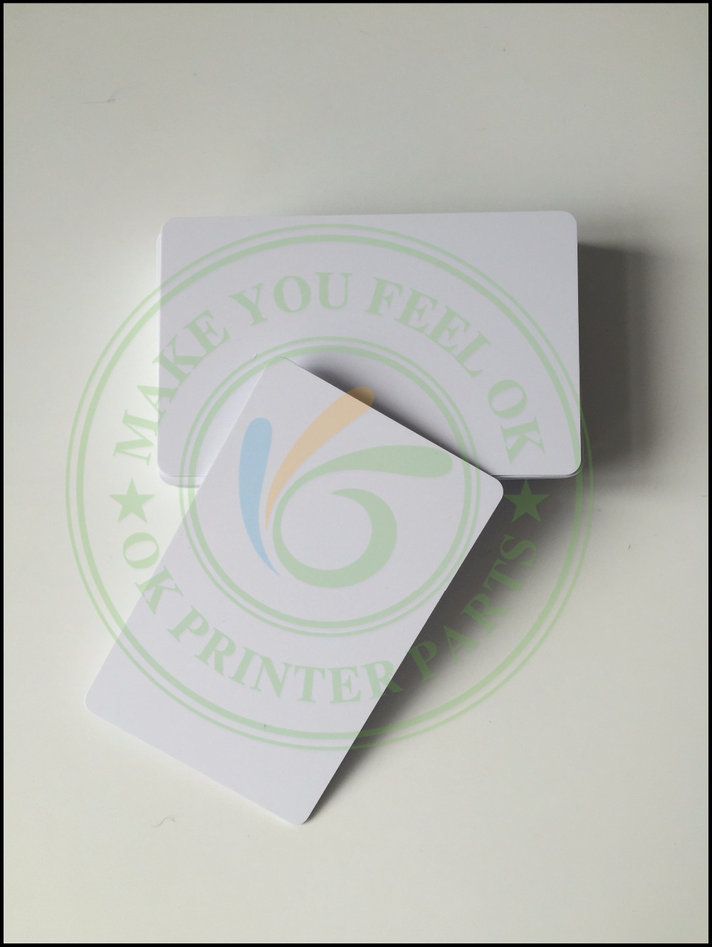 100 glossy White Blank inkjet printable PVC Card Waterproof plastic ID Card business card no chip for Epson for Canon printer directly printing inkjet blank pvc card for epson printer r265 r310 r320 r350 r390 double side printable pvc id cards 230pcs box
