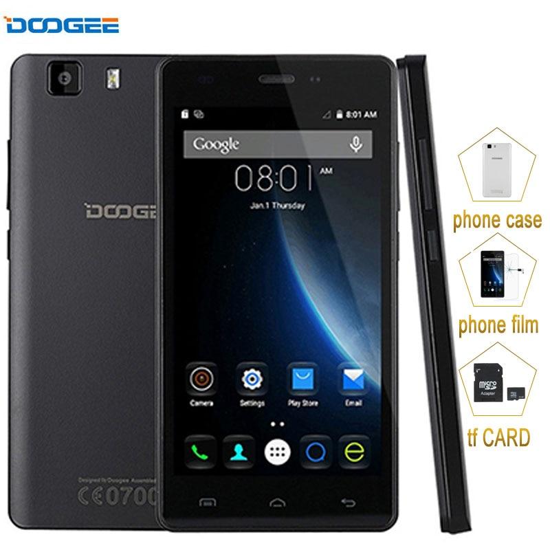 bilder für 3G Original Smartphone DOOGEE X5 1 GB + 8 GB 5,0 zoll Android 5.1 MT6580 Quad Core 1,3 Ghz Mobile telefon GPS A-GPS Handy 2400 mAh
