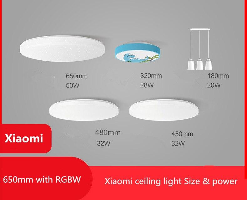 Xiaomi Yeelight Led plafond Pro 650mm RGB 50W travail à mi maison app et google maison et pour amazon Echo pour xiaomi kits de maison intelligente - 5