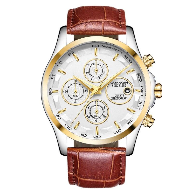 GUANQIN GS19112 watches men luxury brand quartz watch multi-functional men's watch trend sports luminous waterproof calendar 35