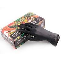 50 pcs High Quality Tattoo Accessories L M S Nitrile Tattoo Gloves Black Blue Disposable Tattoo Latex Gloves