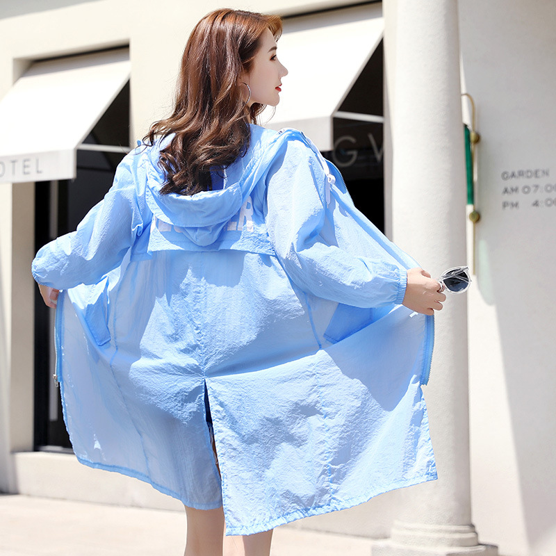 Quick Dry Women 39 s Jackets Women Coats Windbreaker Sun Protection Ultra Light Thin Breathable Summer Female Clothing 5 Color in Trench from Women 39 s Clothing